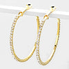 Crystal Rhinestone Hoops on Gold | 1.75"