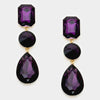 Purple Multi Shape Drop Earrings | 297980
