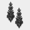 Black Crystal Pageant Drop Earrings | 300671