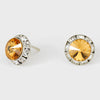 Light Topaz Stud Earrings 0.5"