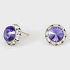 Tanzanite Stud Earrings 0.5"