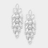 Long Crystal Marquise Earrings | 347042