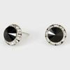 Black Stud Earrings 0.5"
