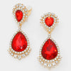 Red Teardrop Clip On Earrings | 298735