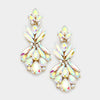 AB Crystal Floral Dangle Earrings | 237575