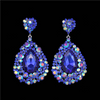 Sapphire Pageant Earrings | Chunky Pageant Earrings | H202-7