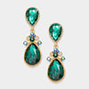 Little Girls Victorian Emerald Crystal Pageant Earrings | 235246