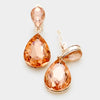 Little Girls Clip on Peach Teardrop Earrings | 334668