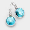Small Teal Austrian Crystal Drop Earrings | 197800