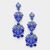 Sapphire Crystal Rhinestone Chandelier Pageant Prom Earrings | Lauren | 283472