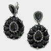Black Pageant Earrings | Clip On |  223688