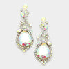 AB Crystal Teardrop Vine Earrings | 339784