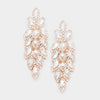 Long Crystal Marquise Earrings on Rose Gold | 398400