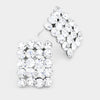 Crystal Rectangle Stud Earrings | Austrian Crystal | 70739