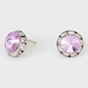 Violet Stud Earrings 0.5"