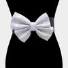 Crystal Rhinestone Bow Elastic Stretch Belt | 394128