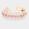 Rhinestone Pave Bubble Crystal Accented Pageant Prom Bracelet | 398421
