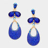 Little Girls Royal Blue Dangle Earrings | 312422