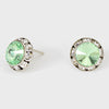Light Green Stud Earrings 0.5"