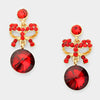 Little Girls Red Drop Earrings | 199122
