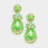 Green and AB Rhinestone Earrings | 260436