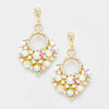 Little Girls AB Chandelier Earrings on Gold | 282189