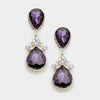 Little Girls Purple Teardrop Earrings | 342950