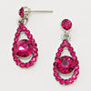 Fuchsia Drop Earrings | Little Girls Earrings | 122577