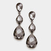 Black Diamond Triple Teardrop Earrings | 237746