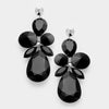 Black Teardrop Pageant Earrings | 336902