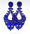 Large Sapphire Crystal Statement Pageant Earrings  | 476312