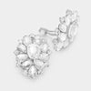 Clear Crystal Flower Clip On Earrings | 347079