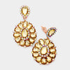 Large Gold Pageant Earrings on Rose Gold | Clip On