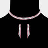 Lt. Rose Rhinestone Choker Necklace | Prom Choker | Pageant Choker