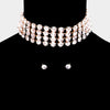 Crystal Rhinestone Choker Pageant Necklace