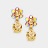 Little Girls Topaz Dangle Earrings