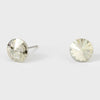 Small Clear Round Crystal Stud Earrings | 8 mm