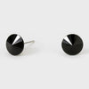 Small Black Round Crystal Stud Earrings | 8 mm | 123231