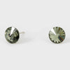 Small Black Diamond Round Crystal Stud Earrings | 8 mm | 123235