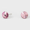 Small methyst Round Crystal Stud Earrings | 8 mm