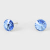 Small Blue Round Crystal Stud Earrings | 8 mm