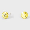 Small Yellow Round Crystal Stud Earrings | 8 mm
