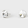 Clear Small Round Crystal Stud Earrings | 10mm = 0.39""