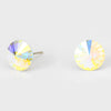AB Small Round Crystal Stud Earrings | 10mm = 0.39"