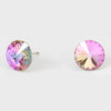 Multi-Color Small Round Crystal Stud Earrings | 10mm = 0.39""