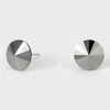 Hematite Small Round Crystal Stud Earrings | 10mm = 0.39""