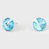 Aqua Small Round Crystal Stud Earrings | 10mm = 0.39""