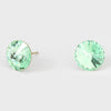 Green Small Round Crystal Stud Earrings | 10mm = 0.39""
