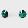 Emerald Small Round Crystal Stud Earrings | 10mm = 0.39""