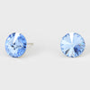 Light Blue Small Round Crystal Stud Earrings | 10mm = 0.39""